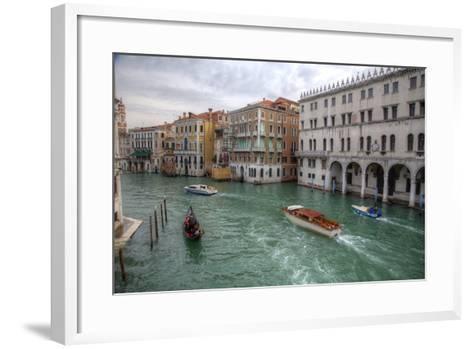 Boats Along the Grand Canal Venice, Italy-Darrell Gulin-Framed Art Print