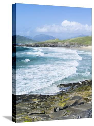 Borve Beach on South Harris in Stormy Weather, Scotland-Martin Zwick-Stretched Canvas Print