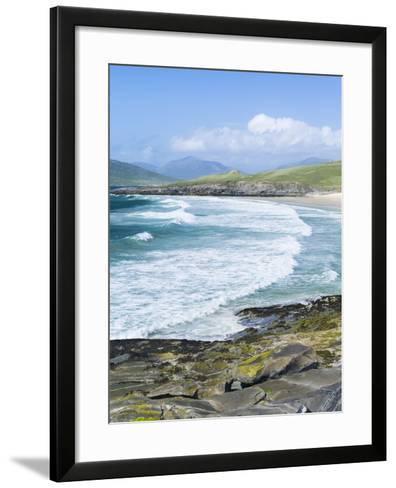 Borve Beach on South Harris in Stormy Weather, Scotland-Martin Zwick-Framed Art Print
