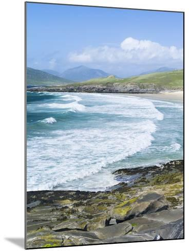 Borve Beach on South Harris in Stormy Weather, Scotland-Martin Zwick-Mounted Photographic Print