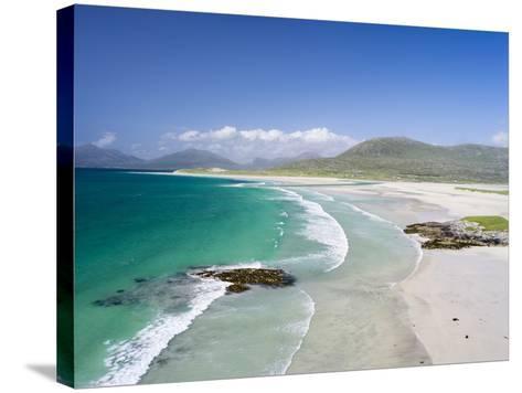 Seilebost Beach on South Harris, Sound of Transay. Scotland-Martin Zwick-Stretched Canvas Print