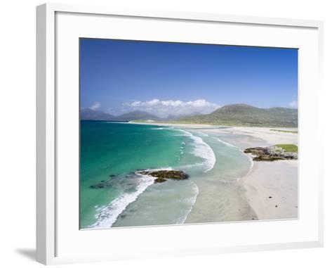 Seilebost Beach on South Harris, Sound of Transay. Scotland-Martin Zwick-Framed Art Print