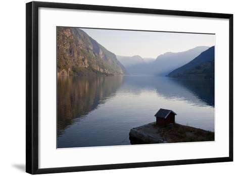 Fishing Hut, Near Flam, Aurlandsfjord, Norway-Peter Adams-Framed Art Print