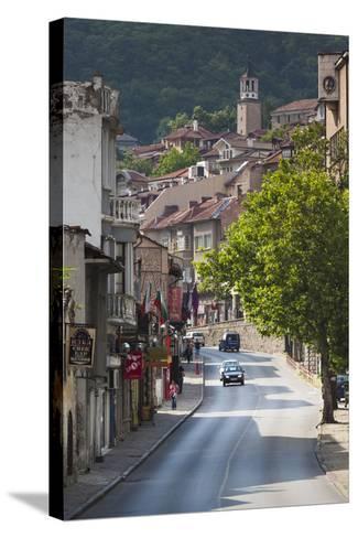 Bulgaria, Central Mts, Veliko Tarnovo, Traffic in Varosha, Old Town-Walter Bibikow-Stretched Canvas Print