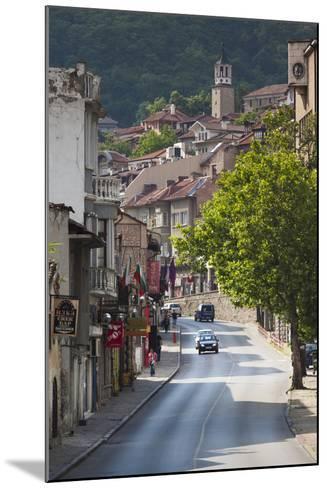 Bulgaria, Central Mts, Veliko Tarnovo, Traffic in Varosha, Old Town-Walter Bibikow-Mounted Photographic Print