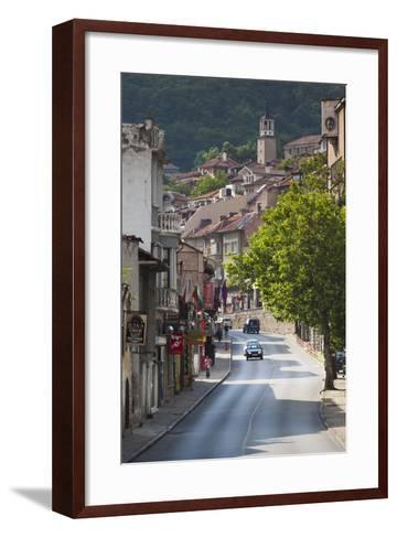 Bulgaria, Central Mts, Veliko Tarnovo, Traffic in Varosha, Old Town-Walter Bibikow-Framed Art Print