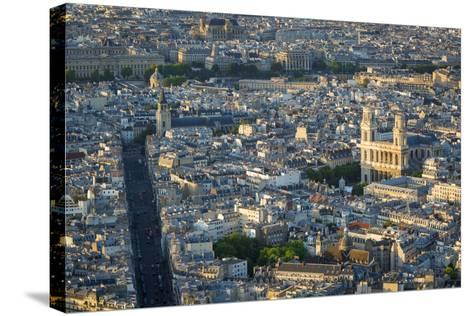 Eglise Saint Sulpice and the Buildings of Paris, France-Brian Jannsen-Stretched Canvas Print