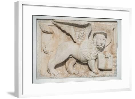 Croatia, Dalmatia, Hvar Town, St. Mark's Lion-Rob Tilley-Framed Art Print