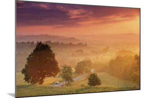 Road in Tuscany, Italy-Peter Adams-Mounted Photographic Print