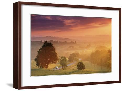 Road in Tuscany, Italy-Peter Adams-Framed Art Print