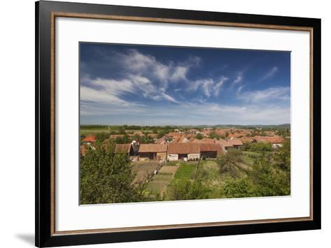 Romania, Transylvania, Sercaia, Elevated Village View-Walter Bibikow-Framed Art Print