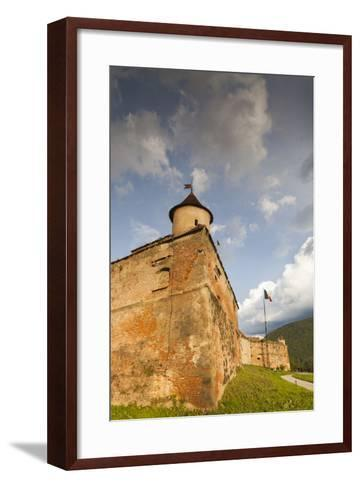 Romania, Transylvania, Brasov, Brasov Citadel, Sunset-Walter Bibikow-Framed Art Print