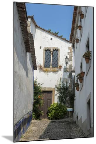 Portugal, Obidos, House on Cobblestone Street-Jim Engelbrecht-Mounted Photographic Print