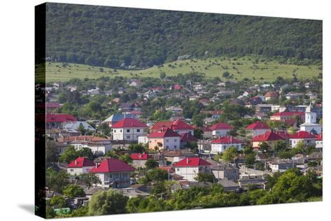 Romania, Danube River Delta, Babadag, Elevated Town View-Walter Bibikow-Stretched Canvas Print