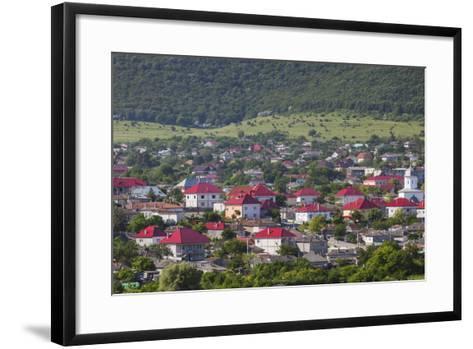 Romania, Danube River Delta, Babadag, Elevated Town View-Walter Bibikow-Framed Art Print