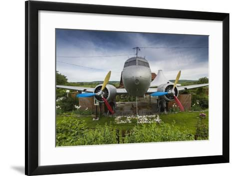 Romania, Transylvania, Faget, Russian Built Lisunov Li-2 Aircraft-Walter Bibikow-Framed Art Print
