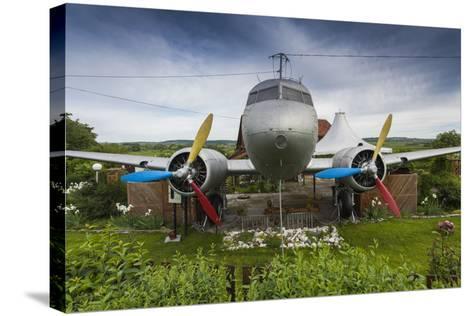 Romania, Transylvania, Faget, Russian Built Lisunov Li-2 Aircraft-Walter Bibikow-Stretched Canvas Print