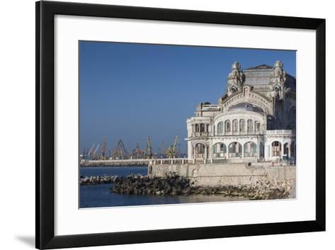 Romania, Black Sea Coast, Constanta, Constanta Casino Building-Walter Bibikow-Framed Art Print