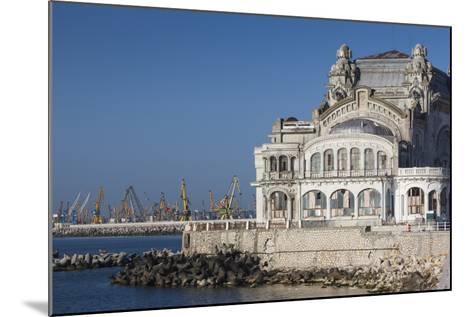 Romania, Black Sea Coast, Constanta, Constanta Casino Building-Walter Bibikow-Mounted Photographic Print