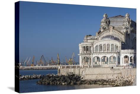 Romania, Black Sea Coast, Constanta, Constanta Casino Building-Walter Bibikow-Stretched Canvas Print