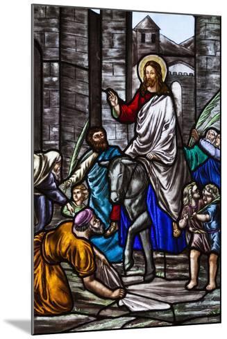 Romania, Transylvania, Greco-Catholic Cathedral, Stained Glass Window-Walter Bibikow-Mounted Photographic Print