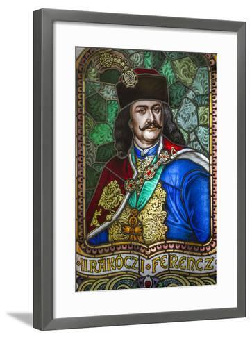 Romania, Transylvania, Culture Palace Building, Stained Glass Windows-Walter Bibikow-Framed Art Print