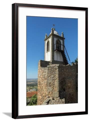 Portugal, Figueira de Castelo Rodrigo, Clock Tower-Jim Engelbrecht-Framed Art Print