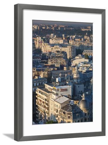 Romania, Bucharest, Lipscani, Old Town, Elevated View, Dawn-Walter Bibikow-Framed Art Print