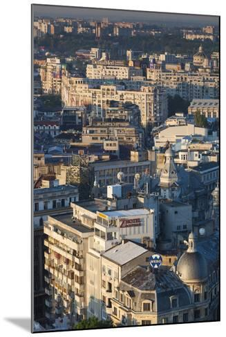 Romania, Bucharest, Lipscani, Old Town, Elevated View, Dawn-Walter Bibikow-Mounted Photographic Print