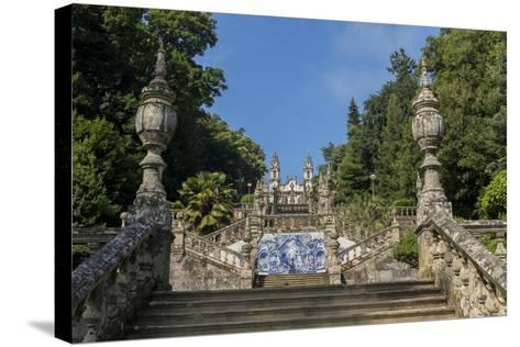 Lamego, Portugal, Shrine of Our Lady of Remedies Steps-Jim Engelbrecht-Stretched Canvas Print