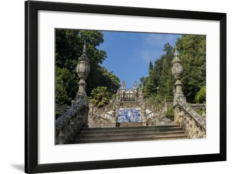 Lamego, Portugal, Shrine of Our Lady of Remedies Steps-Jim Engelbrecht-Framed Art Print