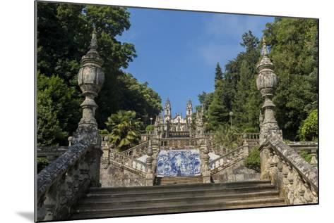 Lamego, Portugal, Shrine of Our Lady of Remedies Steps-Jim Engelbrecht-Mounted Photographic Print