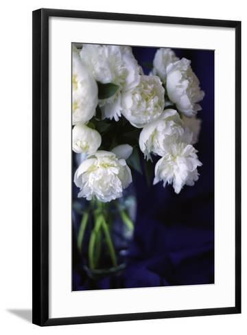 White Peonies in a Vase-Anna Miller-Framed Art Print