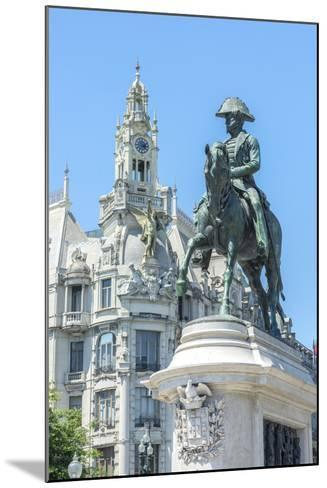 Portugal, Oporto, Liberty Square, Statue of King Pedro Iv-Jim Engelbrecht-Mounted Photographic Print