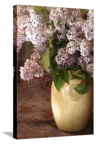 Lilac Flowers in Vase-Anna Miller-Stretched Canvas Print