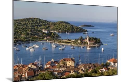 Vis Town, Franciscan Monastery and Harbor, Vis Island, Croatia-Peter Adams-Mounted Photographic Print