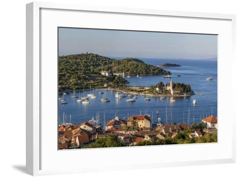 Vis Town, Franciscan Monastery and Harbor, Vis Island, Croatia-Peter Adams-Framed Art Print