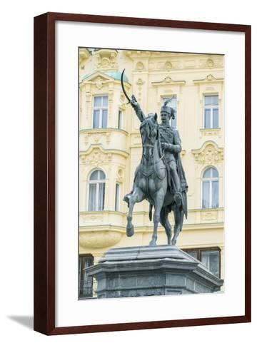 Croatia, Zagreb, Jelacic Square, Statue of Ban Jelacic-Rob Tilley-Framed Art Print