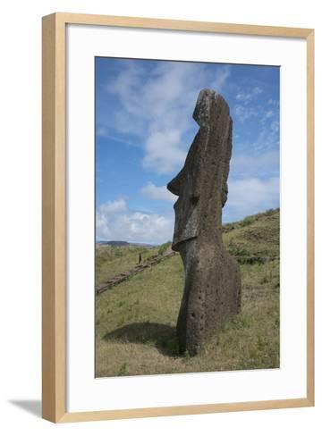 Chile, Easter Island. Rapa Nui NP, Historic Site of Rano Raraku-Cindy Miller Hopkins-Framed Art Print