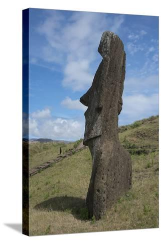 Chile, Easter Island. Rapa Nui NP, Historic Site of Rano Raraku-Cindy Miller Hopkins-Stretched Canvas Print