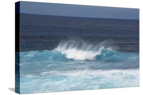 Chile, Easter Island. Pacific Ocean Views of Crashing Waves-Cindy Miller Hopkins-Stretched Canvas Print
