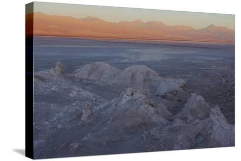 Moon Valley in the Atacama Desert as the Sun Is Setting-Mallorie Ostrowitz-Stretched Canvas Print