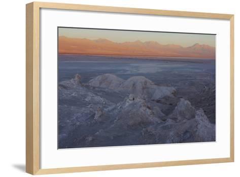 Moon Valley in the Atacama Desert as the Sun Is Setting-Mallorie Ostrowitz-Framed Art Print