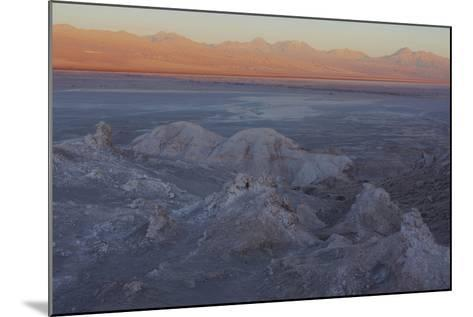 Moon Valley in the Atacama Desert as the Sun Is Setting-Mallorie Ostrowitz-Mounted Photographic Print