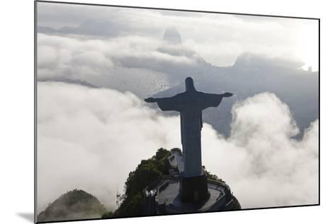 Art Deco Statue of Jesus, Corcovado Mountain, Rio de Janeiro, Brazil-Peter Adams-Mounted Photographic Print