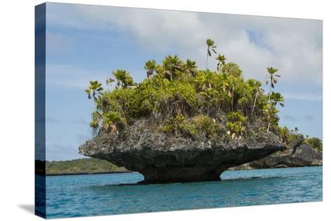 Fiji, Island of Fulanga. Mushroom Islets, Coral Limestone Formations-Cindy Miller Hopkins-Stretched Canvas Print