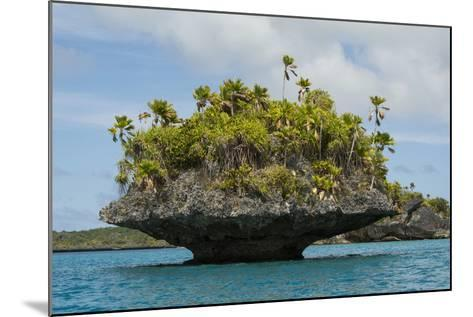 Fiji, Island of Fulanga. Mushroom Islets, Coral Limestone Formations-Cindy Miller Hopkins-Mounted Photographic Print