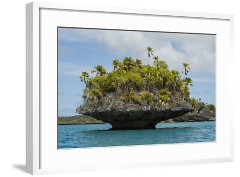 Fiji, Island of Fulanga. Mushroom Islets, Coral Limestone Formations-Cindy Miller Hopkins-Framed Art Print
