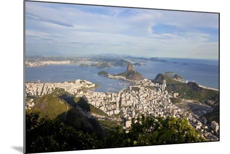 View over Sugarloaf Mountain in Guanabara Bay, Rio de Janeiro-Peter Adams-Mounted Photographic Print
