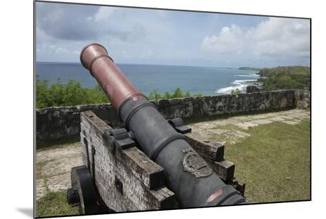 Us Territory of Guam, Umatac. Fort Soledad. Cannon and Philippine Sea-Cindy Miller Hopkins-Mounted Photographic Print